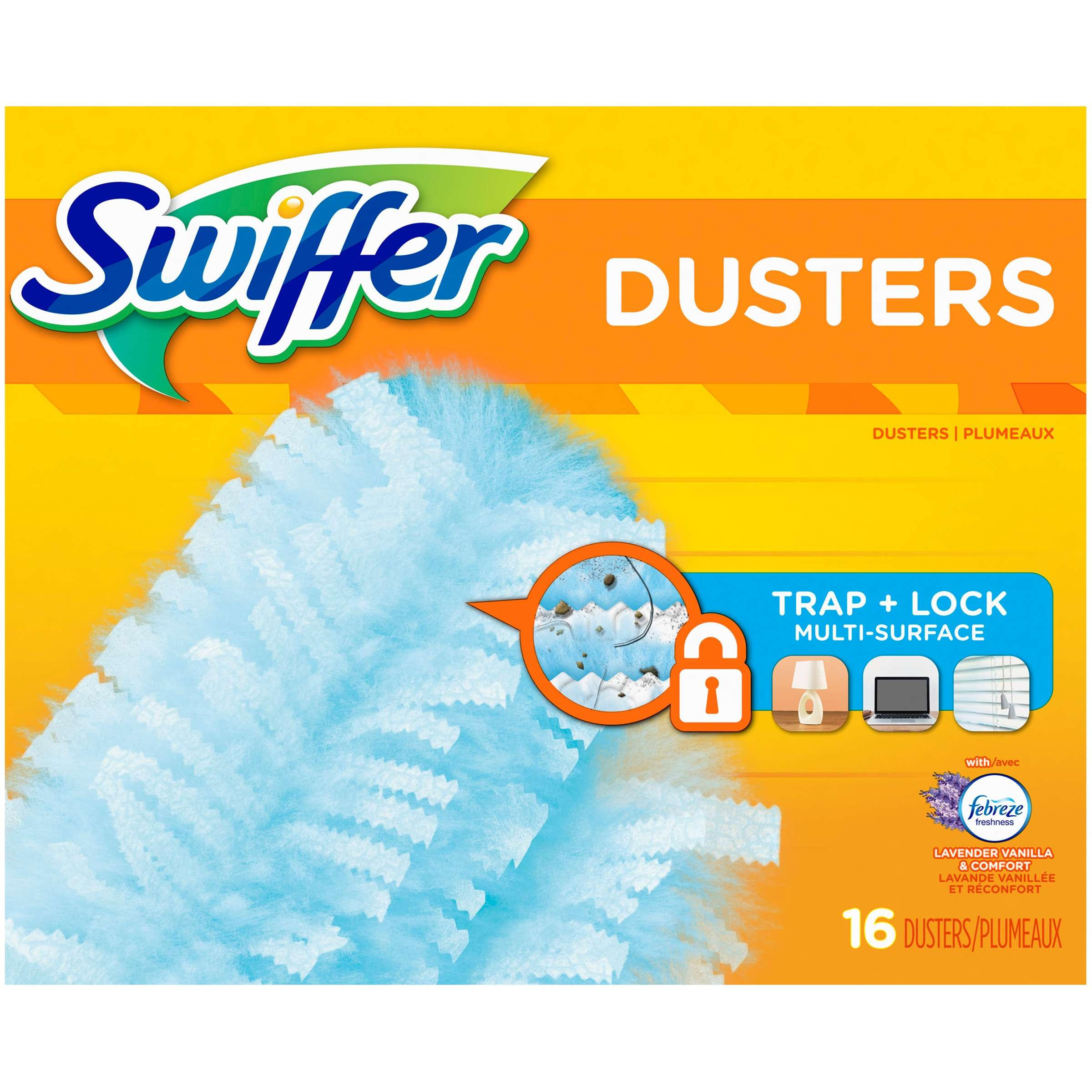 Swiffer 180 Dusters Multi Surface Refills, with Febreze Lavender & Vanilla scent, 16 Count