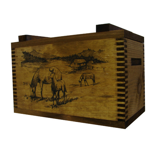 Evans Sports Standard Storage Box with Horse Print