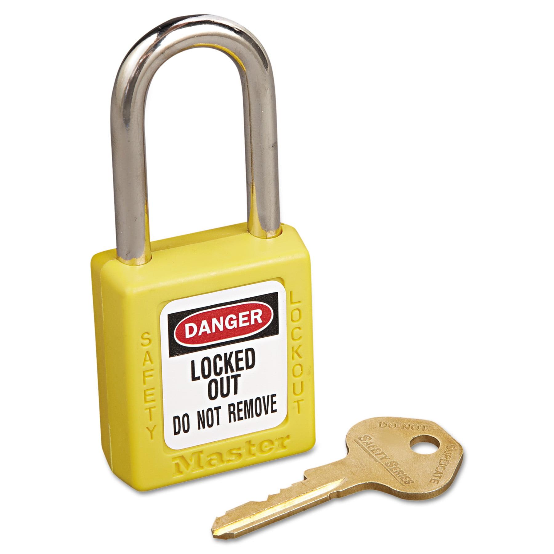 Master Lock No. 410 Lightweight Xenoy Safety Lockout Padlock, 6 Pin, Yellow
