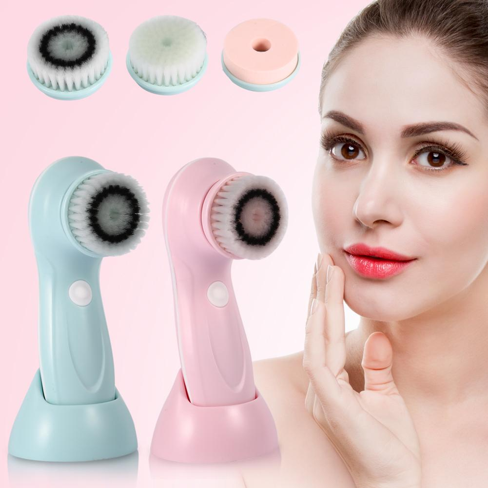 2 Colors Fashion USB Rechargeable Electric Rotating Facial Cleansing Brush Soft Face Cleaner ,Facial Cleansing Brush, Facial Brush