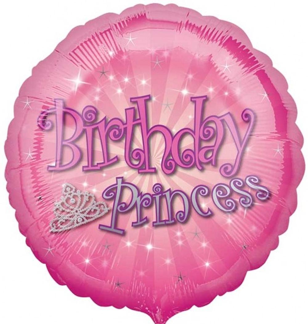 "Anagram ""Birthday Princess"" Pink Foil Balloon"
