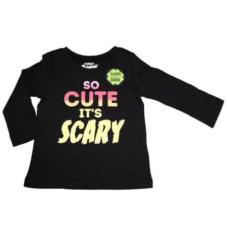 OshKosh B'gosh Baby Girls' Graphic Tee, So Cute it's Scary, 9 Months - Scary Baby