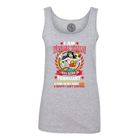 Wonder WoMan  Born In February WoMan s Tank