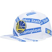 Golden State Warriors New Era Team Taped Retro Crown 9FIFTY Snapback Hat - White - OSFA