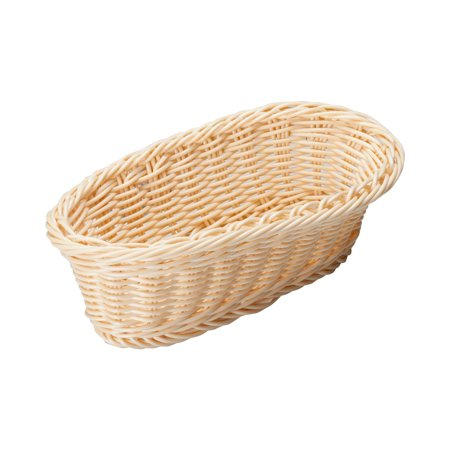 Brown Oval Basket - Brown Long Oval Poly Woven Baskets, 9