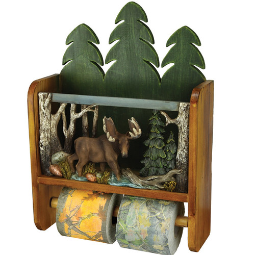 Rivers Edge Moose Wall Mounted Magazine Rack Toilet Paper Holder by Rivers Edge Products