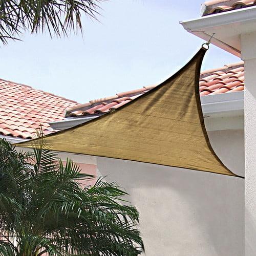 ShadeLogic Sun Shade Sail, Heavy Weight, 12' Triangle, Sand