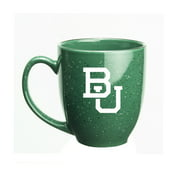 Boston University 15 oz. Deep Etched Green Bistro Mug