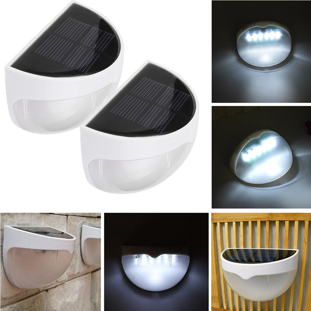 Ktaxon 2Pack Waterproof 6 LED Solar Power Light Sensor Wall Light Outdoor Garden Fence Lamp