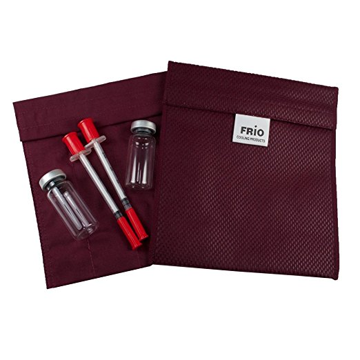 FRIO Small Diabetic Insulin Cooling Wallet-Burgundy
