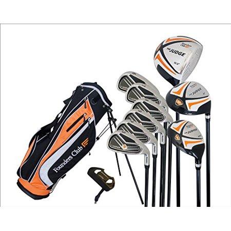 Graphite Golf Shirt - Founders Club The Judge Complete Golf Set with Graphite Regular Flex Shafts and Stand Bag