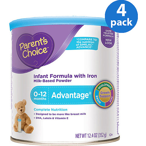 Parent's Choice - Advantage Infant Formula, 12.4 oz, (Pack of 4)