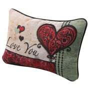 I Love You I Love You More Pillow - Woven Tapestry Throw Pillow with Reversible Love Messages