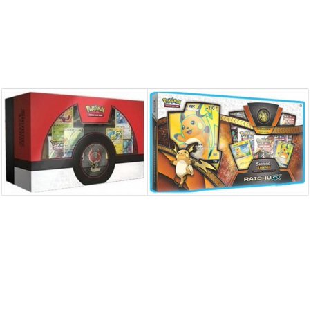 Pokemon Trading Card Game Shining Legends Raichu GX Collection Box and Shining Legends Ho-Oh Super Premium Collection Box Bundle, 1 of Each (Pokemon Party Games)