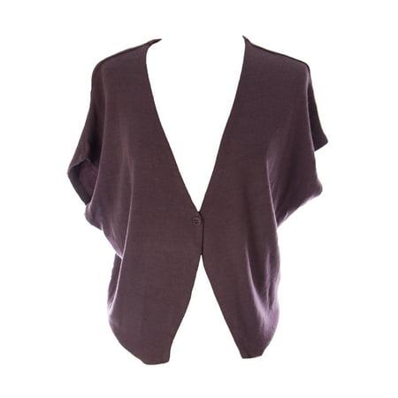 Lunn Women's Claire Dolman Sleeve Knit Waistcoat Prunelle