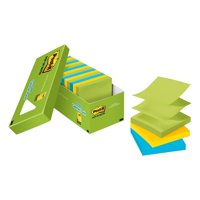 Post-it Pop-up Sticky Notes Cabinet Pack, 3in. x 3in., Jaipur Colors