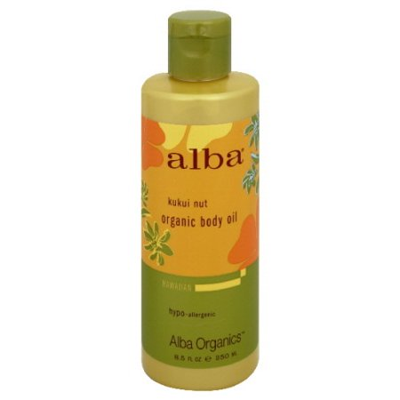 Alba Botanica Hawaiian Body Oil, Kukui Nut, 8.5 Fl Oz