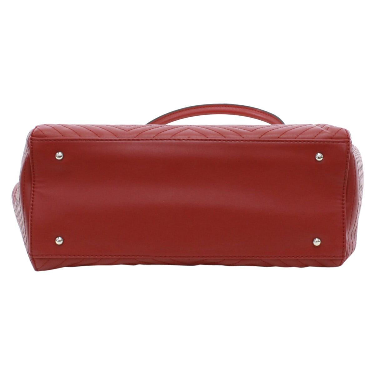 GUESS - Guess Women s Rebel Roma Ruby Quilted Satchel Handbag - Walmart.com 30ece64ad2