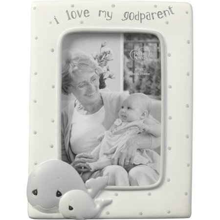 Precious Moments Whale I Love My Godparent 4 x 6 Resin & Glass Photo Frame 183408 (Godparent Picture Frame)