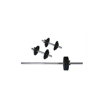 Image of 160 Pounds Black Regular Weights w Bars - Set of 3