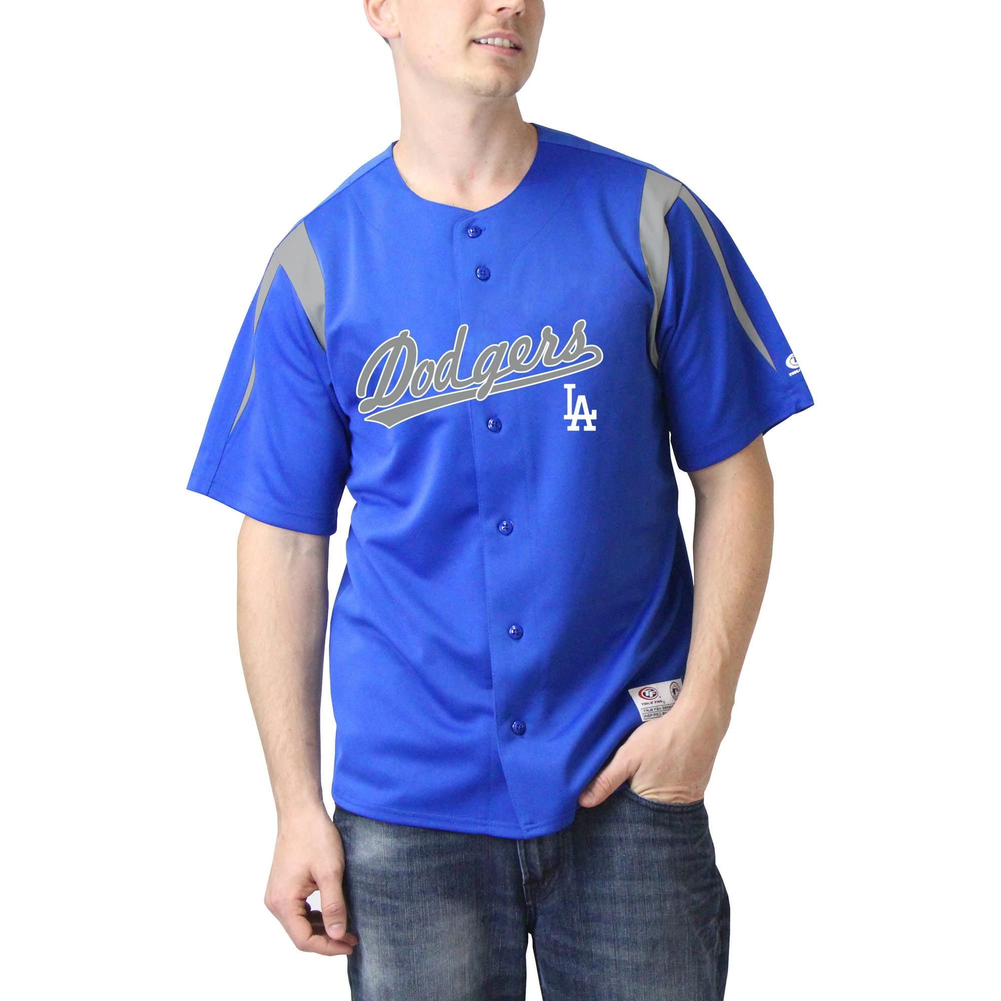 MLB Los Angeles Dodgers Men's Color Block Jersey