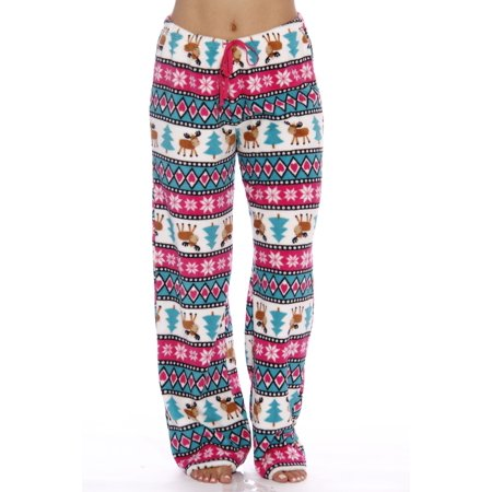c61c4264fb04 Just Love - Just Love Women s Plush Pajama Pants - Petite to Plus ...