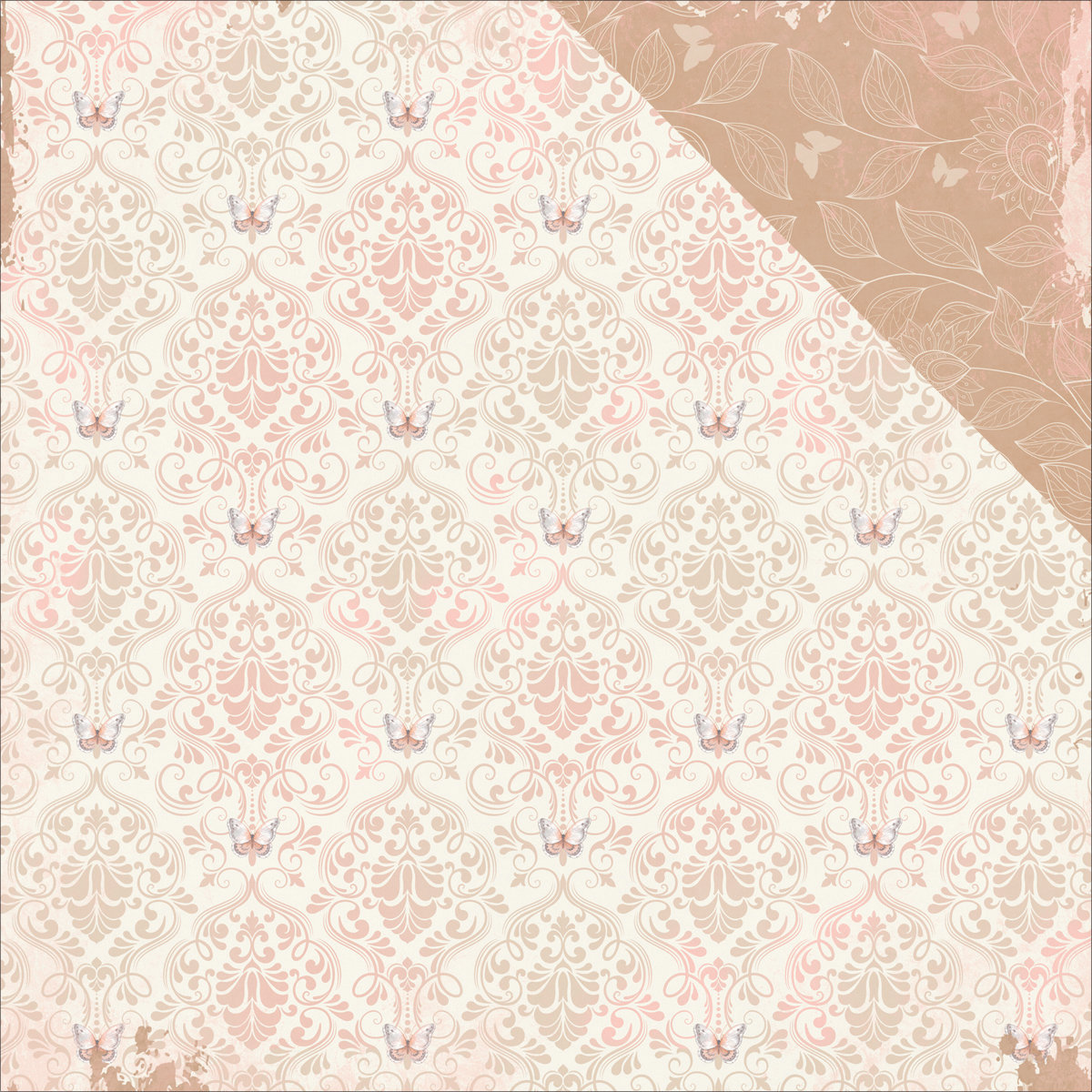 "Butterfly Kisses Double-Sided Cardstock 12""X12""-Breeze"