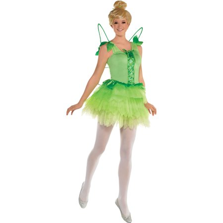 Suit Yourself Peter Pan Tinker Bell Costume for Women, Includes a Green Fairy Dress and Matching Green Wings - Penis Suit