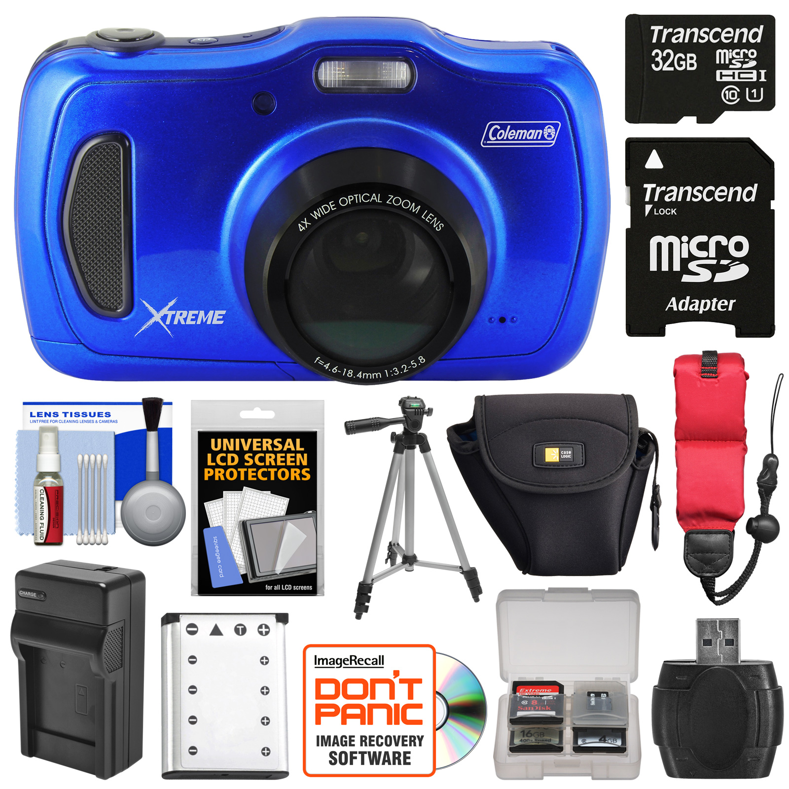 Coleman Xtreme4 C30WPZ Waterproof HD Digital Camera (Blue...