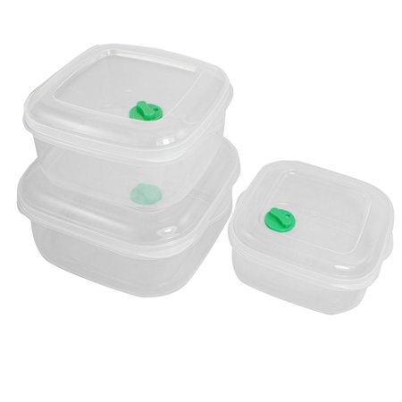 Kitchen Plastic Square Microwave Food Storage Container 3