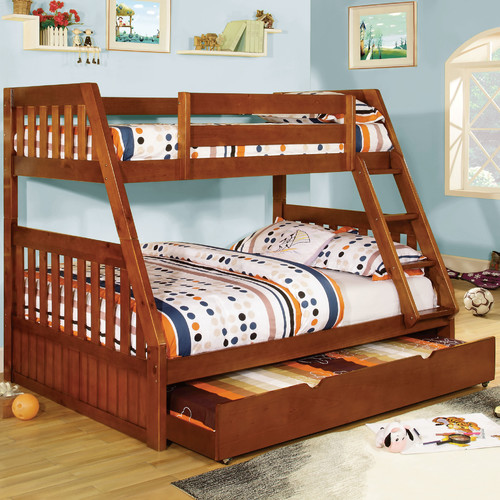 Hokku Designs Logan Twin Over Full Bunk Bed Walmart Com