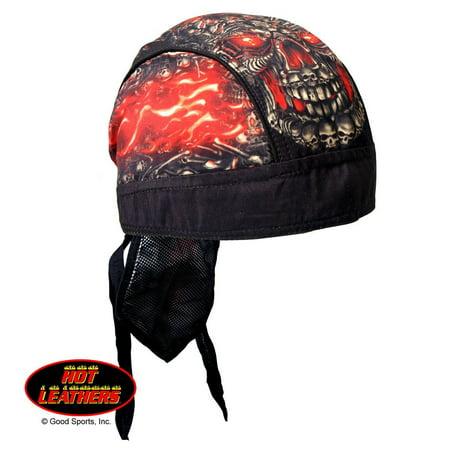 Authentic Bikers Premium Headwraps, SKULL MADE OF SKULLS - High Quality Micro-Fiber & Mesh Lining