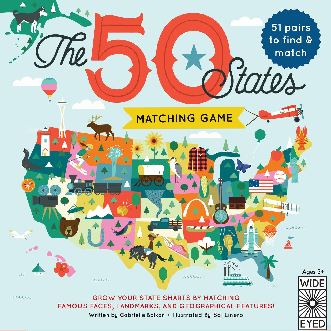 50 States: The 50 States Matching Game (Other)