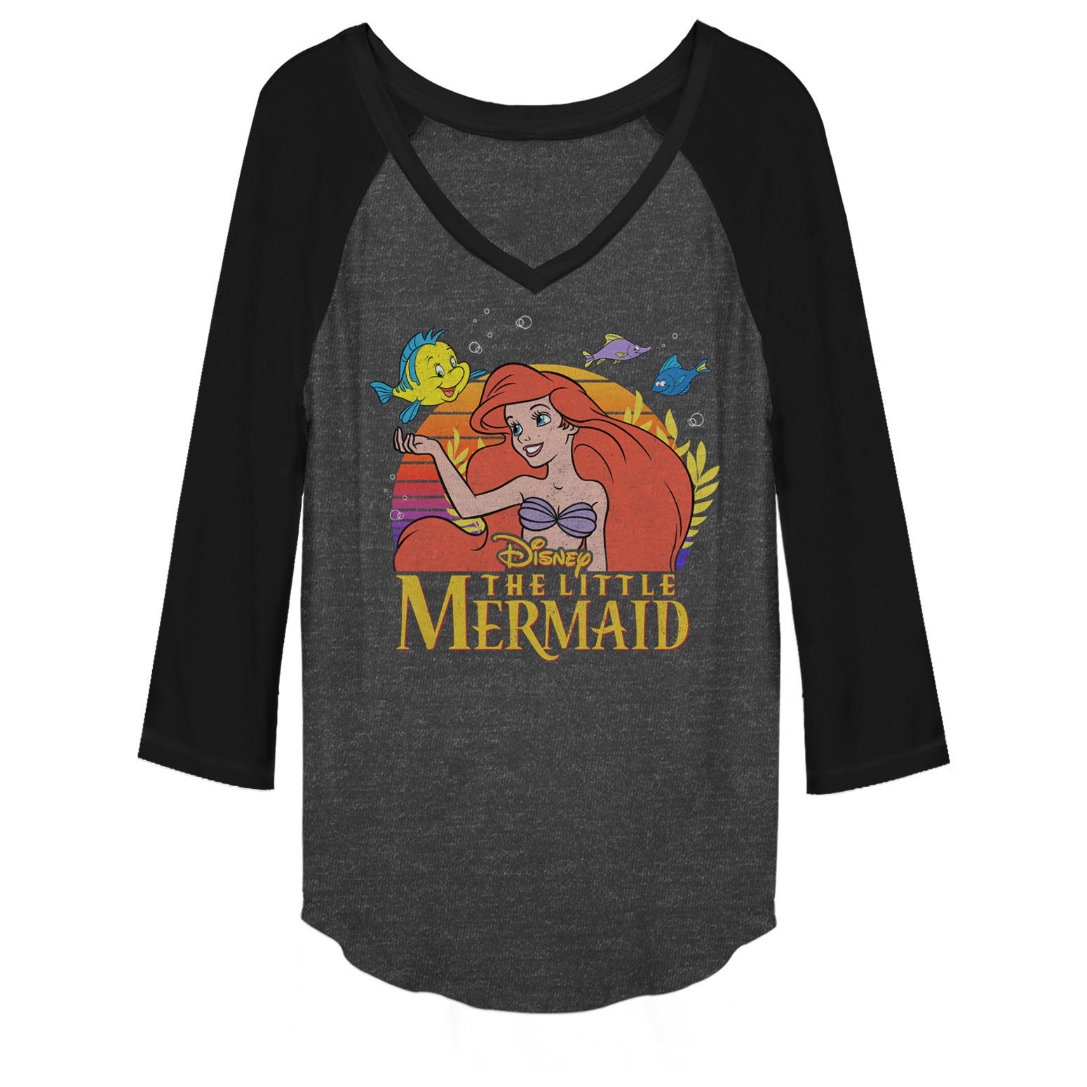 The Little Mermaid Juniors' Ariel Classic Baseball Tee