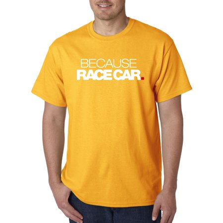 Mens Race Jacket - Trendy USA 869 - Unisex T-Shirt Because Race Car Enthusiast Funny Humor Small Gold