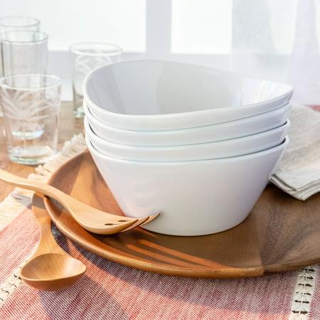 Better Homes & Gardens Porcelain Wavy Serve Bowls, set of 4 Wavy Rim Bowl Set