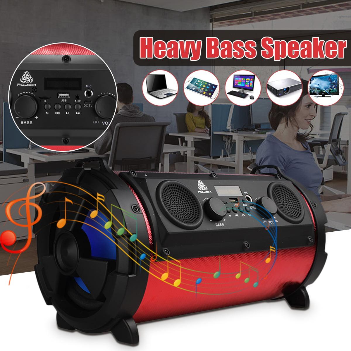 Portable Wireless bluetooth Speaker  Stereo Radio HI-FI Super Bass USB AUX TF FM