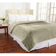 Valerie Collection Ultra Velvet Plush Super Soft Fleece Luxury Blanket in Solid Colors by Home Fashion Designs