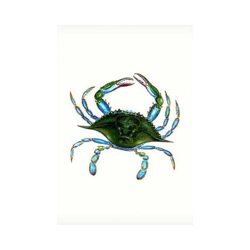 Betsy Drake Interiors Female Blue Crab Vertical Flag