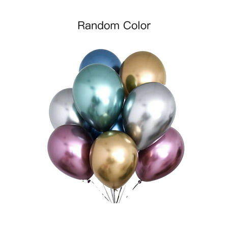 1Pc 12inch Glossy Metallic Latex Balloon Thick Inflatable Balloon Birthday Party Wedding Decor](Inflatable Balloon)