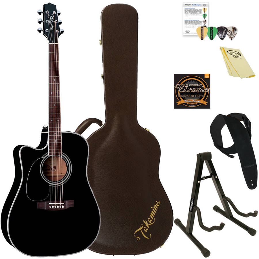 Takamine EF341SC LH Left-Handed Solid Cedar Acoustic-Electric Guitar with Hard Case and ChromaCast Accessories