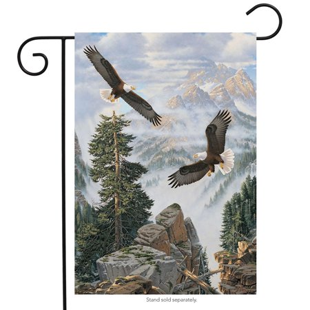 eagles in flight summer garden flag nature wildlife bald eagle 12.5