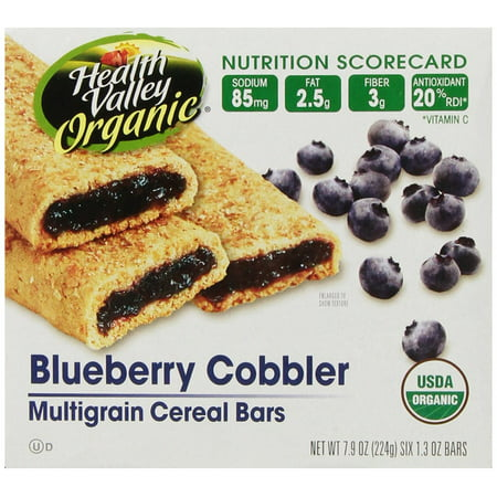 Organic Multigrain Cereal Bars, Blueberry Cobbler, 6 Count (Pack of 6) Health
