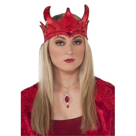 Medieval Queen Red Crown Tiara Costume Accessory (Queen Costume Accessories)