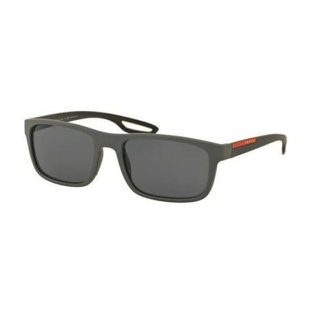 PRADA SPORT Sunglasses PS 03RS UFK5Z1 Grey Rubber 56MM