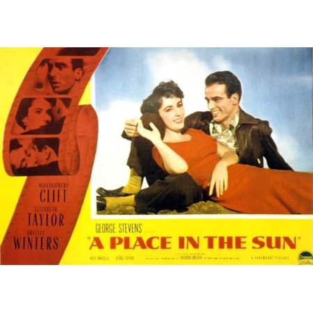 A Place In The Sun Elizabeth Taylor Montgomery Clift 1951 Movie Poster (Montgomery Clift A Place In The Sun)