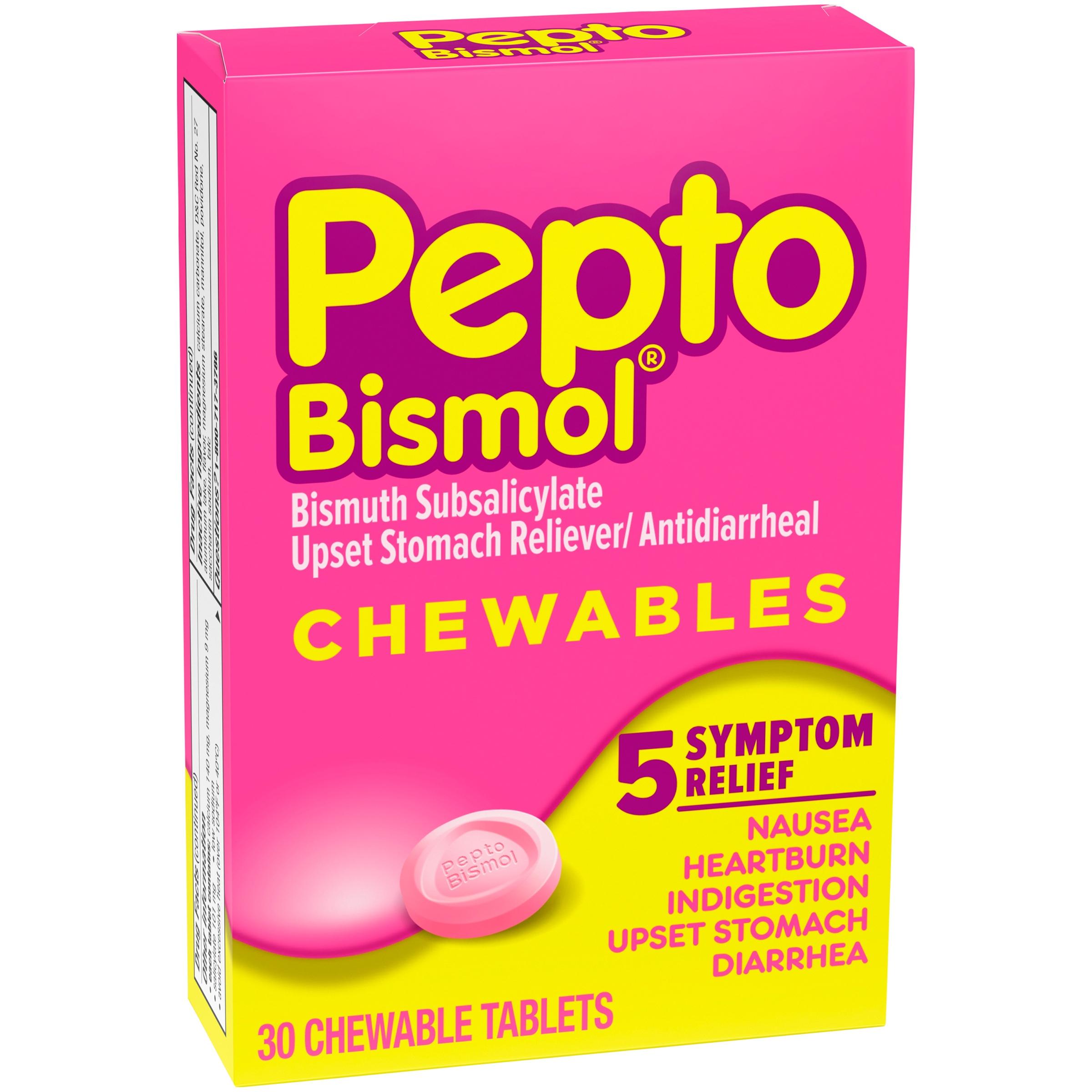 Pepto-Bismol® Digestive Symptom Relief Chewable Tablets 30 ct Box
