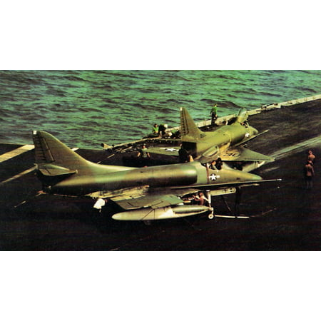 Canvas Print Two U S  Navy Douglas A-4C Skyhawk aircraft of