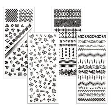 bf19c7d329d Maniology (formerly bmc) 4pc Shapies Rub-On Nail Art Decals Set - Modern  Geometric Hearts Stars Dots Animal Print Abstract Pop Art Designs -  Walmart.com