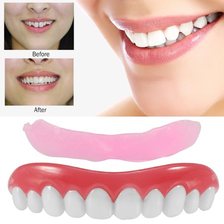 False Fake Cosmetic Dentures Teeth Veneer Upper Set
